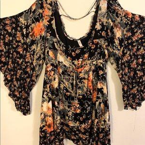 Free people asymmetrical floral dress